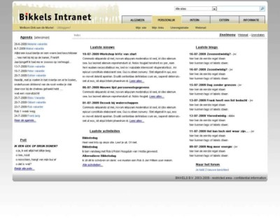 Intranet Bikkels